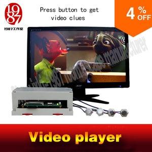 Image 1 - תא אבזר חדר וידאו נגן מתכת כפתור גרסה JXKJ1987 לחץ על בוטון כדי לקבל את וידאו רמזים איילה חדר בריחה אבזרי