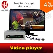 Komnata prop odtwarzacz wideo metalowa wersja przycisku z JXKJ1987 naciśnij przycisk, aby uzyskać wskazówki wideo doe room escape rekwizyty