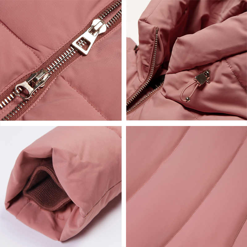 ICEbear 2019 Новинка высококачественная зимняя куртка женская с капюшоном  ветрозащитная куртка средней длины высококачественный металлический застежка -молния модный стоячий воротник куртки GWD18101D