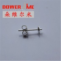 FREE Wholesale 500PCS Lot 925 Sterling Silver Jewelry Findings Ear Pin Pairs Stud Earrings With 925