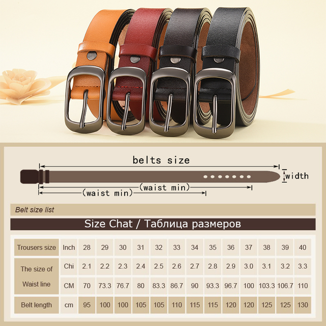 Leather Belt For Strap Casual All-match Ladies Adjustable Belts Designer High Quality 5
