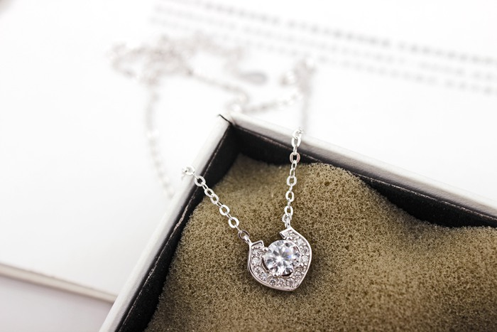 ZTUNG 2019 ZLCA5 For Mo women fine jewelry,super shiny love heart shape necklace,925 silver pendant as a present for your loverZTUNG 2019 ZLCA5 For Mo women fine jewelry,super shiny love heart shape necklace,925 silver pendant as a present for your lover