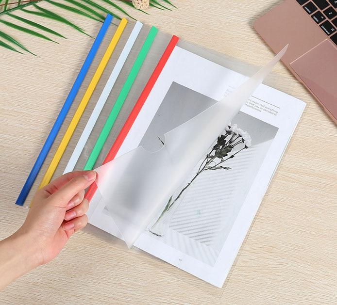 50 pièces tige pince dossier bureau fournitures scolaires rapport papier porte-fichiers dossiers A4 Documents papiers cahiers d'exercices