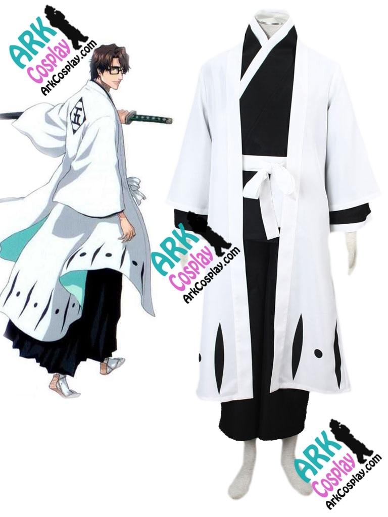 Bleach Aizen Sousuke Cosplay Kimono Cosplay Black Mens Bleach Cosplay Costume
