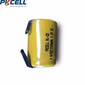 Image 4 - 10 قطعة PKCELL 4/5 SC Sub C 1.2 فولت بطارية نيكل كادميوم 1200MAH SC بطاريات قابلة للشحن مع علامات التبويب لحام كهربائي الحفر مفك
