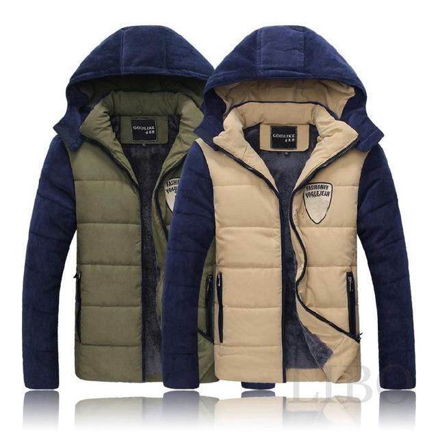 Manteau Capuche Ouatée À Chaude 2016 Vente Veste Hommes D'hiver qPxF84