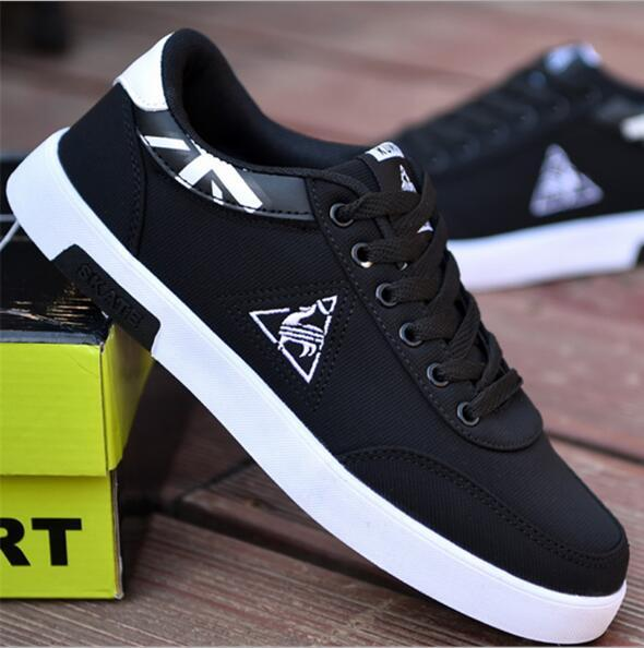new Men Shoes Casual Canvas Lightweight Lace Up Sneakers Breathable jogging Skateboard Men Flats Slip Shoes Male Footwear 1
