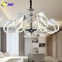 FUMAT nowoczesne LED Swan wisiorek światła Nordic salon lampy wiszące sypialnia Droplight jadalnia oświetlenie akrylowe oprawy w Wiszące lampki od Lampy i oświetlenie na