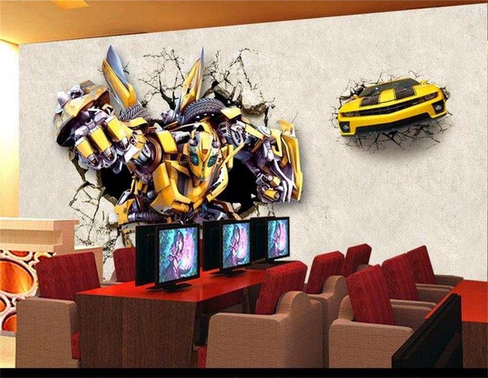 Online get cheap custom bumblebee for Bumble bee mural
