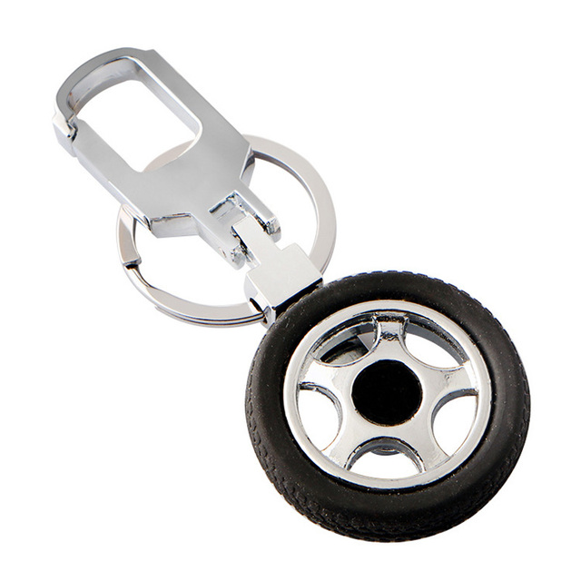 Us 2 19 Turn Rotate Tyre Keychain Car Tire Key Chains Elegant Man Key Rings Car Covers Carabiner For Keys Factory Wholesale Price In Key Chains From