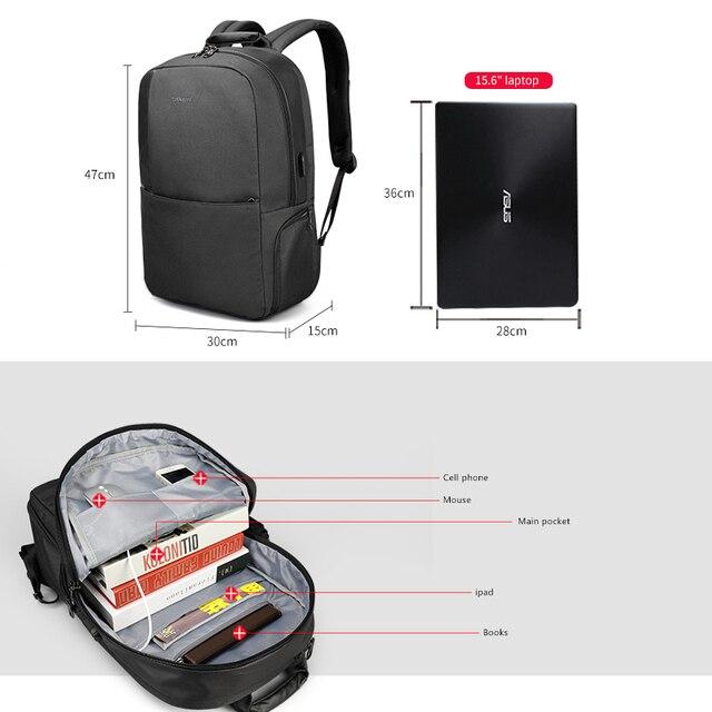 Tigernu Unique technique multifunction schoolbag for teenage USB 15.6 Laptop Anti theft Fashion Business Men backpack 5