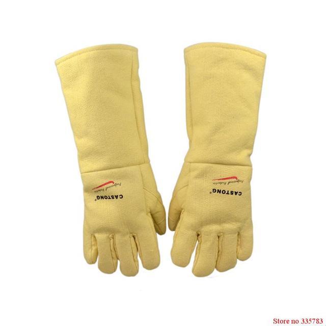 500 градусов тепла перчатки изоляции Высокая термостойкость перчатки горячая огнезащитных анти-ошпарить огонь Арамидного волокна ткани