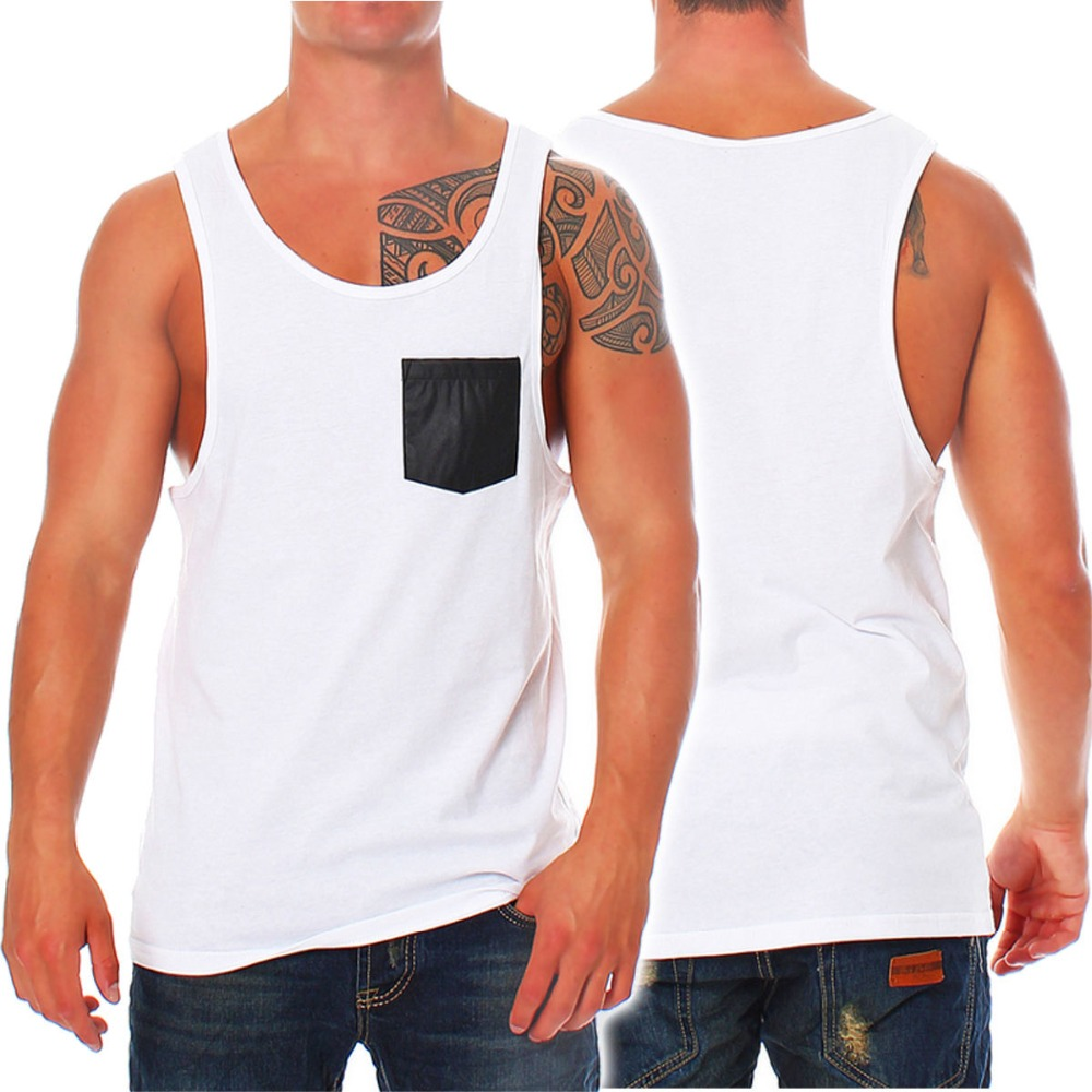 7fd5e323ae88b2 New Brand clothing Bodybuilding Fitness Men Loose pocket Tank Top Vest  Undershirt T03-in Tank Tops from Men s Clothing on Aliexpress.com