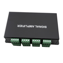 цена на HC800 8 CH SPI TTL signal synchronizer LED amplifier DC12V-24V8 ports output controller For dream color pixel led strip light