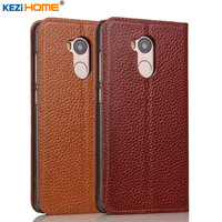 For Xiaomi Redmi 4 Pro Case Cover Kezihome Genuine Leather Phone Bag Cover Flip Wallet Coque