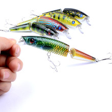 1pcs lifelike fishing lures 3d eyes 6 jointed sections lures crankbait hard bait fish hook jig carp pesca fishing tackle 1Pcs 14cm/21.7g Multi Jointed Sections Fishing Lures Hard Bait Lifelike Artificial 2 sections Wobblers Crankbait Pesca Tackle