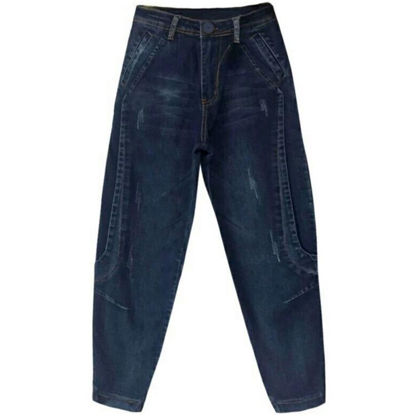 Boyfriend Jeans High Waist Harem Pants Women Trousers Casual Plus Size Loose Denim Pants