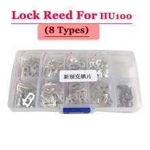 Free shipping (200pcs/box )hu100 car lock reed locking plate for opel lock (each type 25pcs) Repair Kits