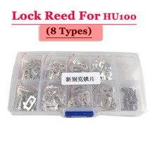 Spedizione gratuita (200 pz/scatola) hu100 auto lock reed piastra di bloccaggio per opel serratura (ogni tipo 25 pz) Kit di riparazione