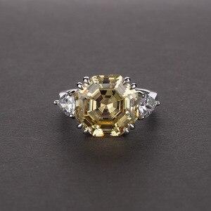 Image 3 - OneRain bague en argent Sterling 100% 925, création Moissanite, pierres précieuses Aqumarine, fiançailles, bague or blanc, vente en gros de bijoux, cadeaux