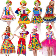Halloween Purim Carnival Adult Woman Circus Clown Costume Harley Quinn Cosplay Costumes Clothing for Women