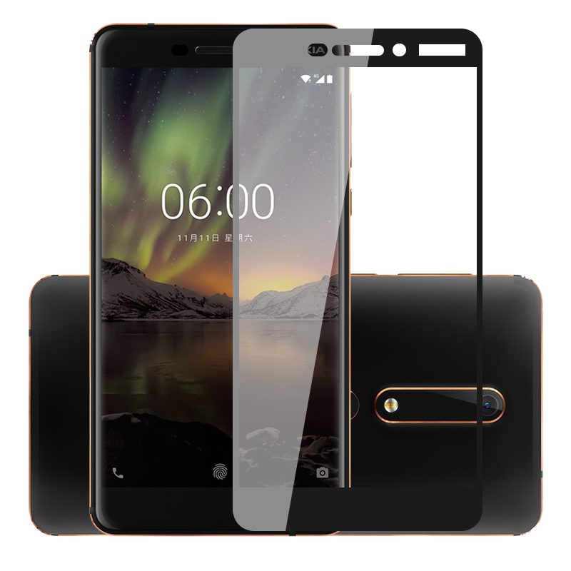 For Nokia 6 2018 Best 100% Genuine Tempered Glass Guard Screen Protection Cell Phone Accessories