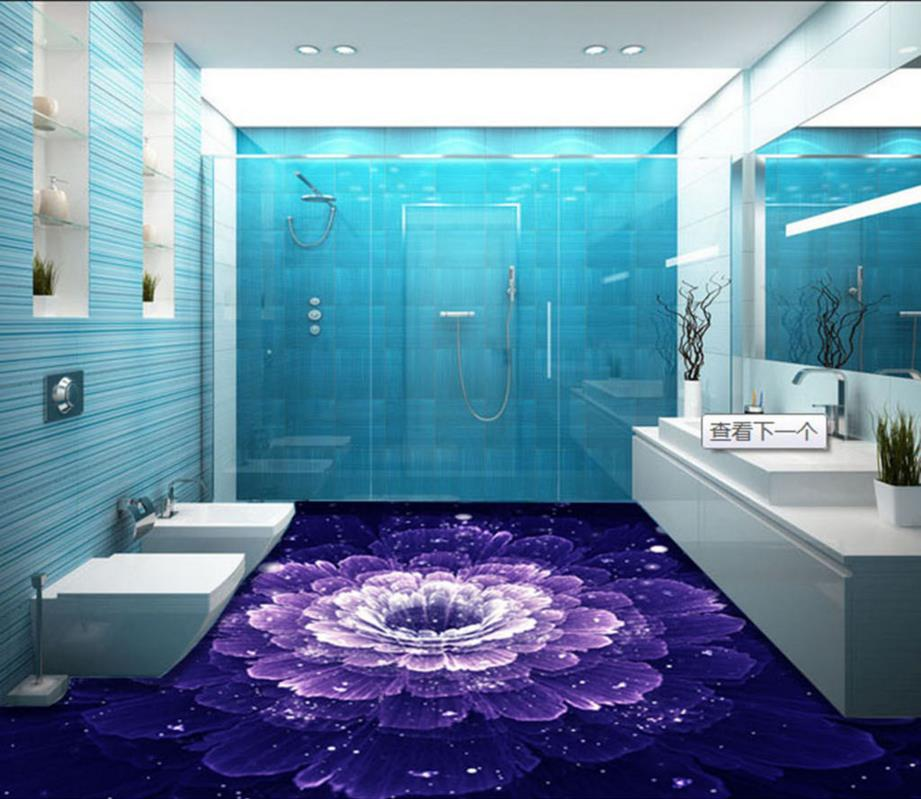 Elegant Aliexpress.com : Buy 3D Floor Rose Purple Cusom 3d Adhesive For Flooring  Non Slip Waterproof Decorative Vinyl Flooring Bathroom From Reliable 3d  Flooring ... Great Ideas