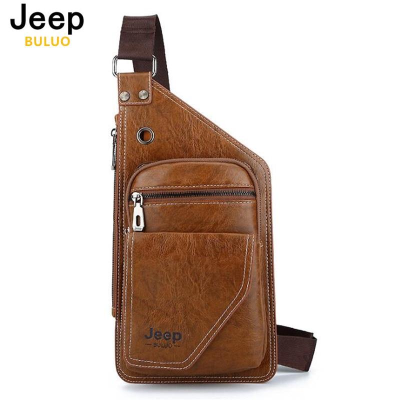 Pria Kulit Tas Jeep Tas Selempang Dada untuk Anak Muda Pesta Kasual  Messenger Tas Bahu Pria 39a3973fb9