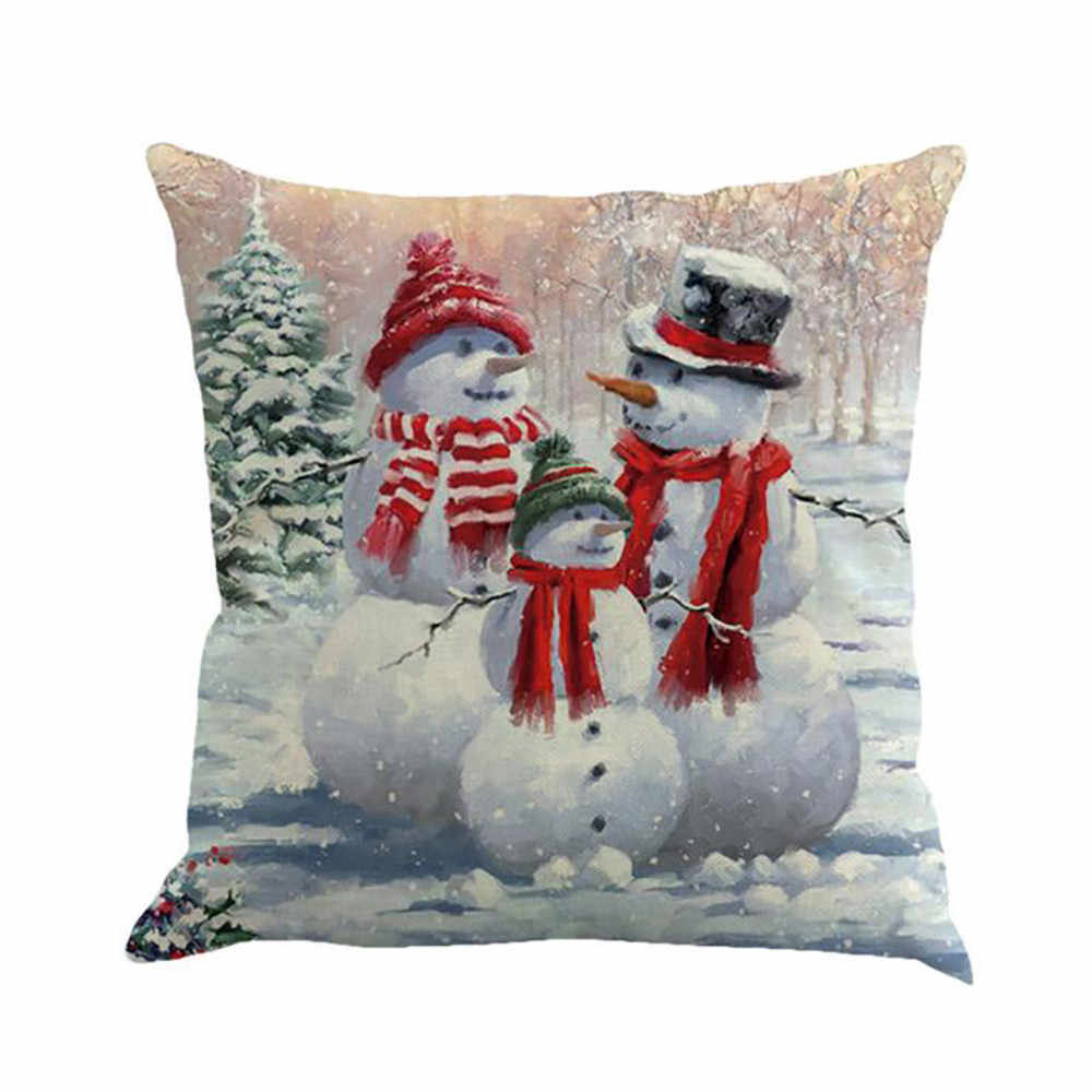 Christmas PillowCase Sofa Waist Throw Cushion Cover Home Decor pillow cover decorative pillows cushion cover