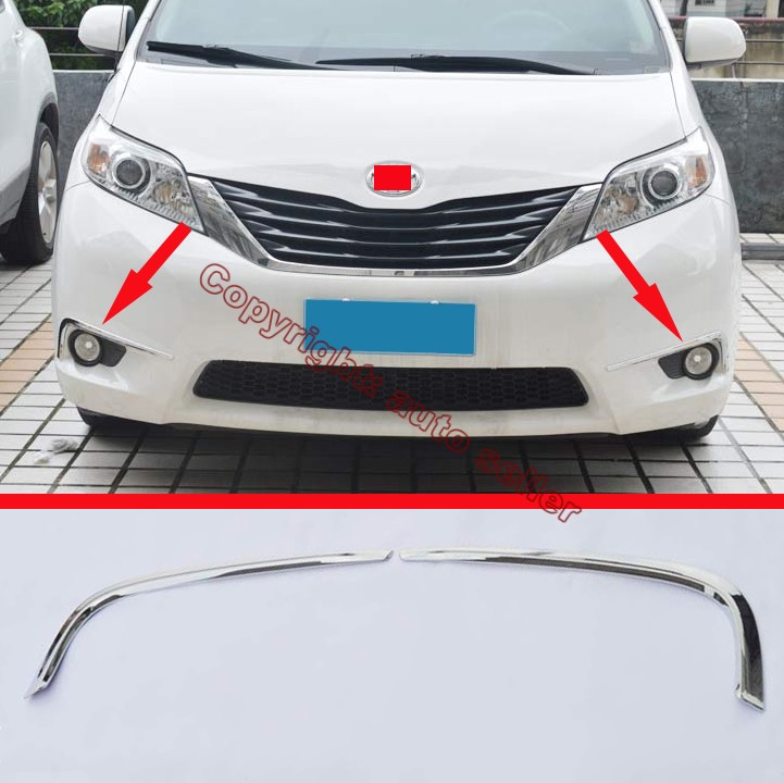 2016 Toyota Sienna Exterior: ABS Chrome Front Fog Light Trim For Toyota Sienna 2015
