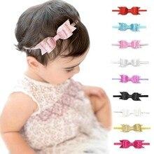 Повязка на голову для маленьких девочек; аксессуары для волос для младенцев; повязка с бантами для новорожденных; повязка на голову; подарок для малышей; эластичная Детская повязка