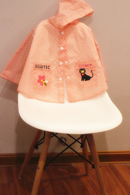 Imperméable à l'eau Polyester manteau de pluie garçon enfants filles coupe-vent Poncho étudiant Poncho de pluie maternelle bébé imperméable 3DYYB09