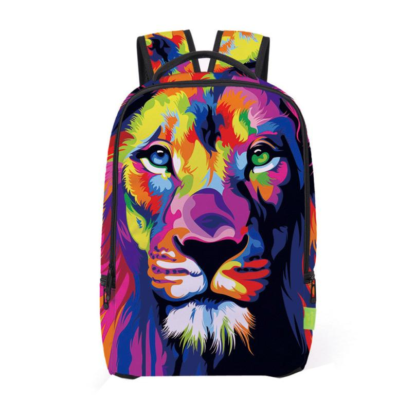 Xiniu Men Backpack Canvas Printing Backpack Women School Bag Graffiti Pattern Men Backpacks Free Shipping Mochilas