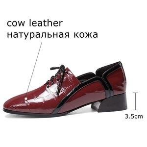 Image 3 - ALLBITEFO naturel en cuir véritable loisirs chaussures à talons hauts mode dames femmes talons décontracté printemps automne fille talons hauts