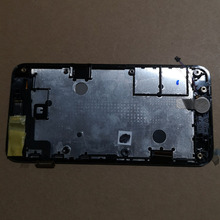 Asus ZenFone 4 için A400CXG A400CG tam lcd ekran panel modülü + siyah dokunmatik ekran digitizer sensörü meclisi çerçeve