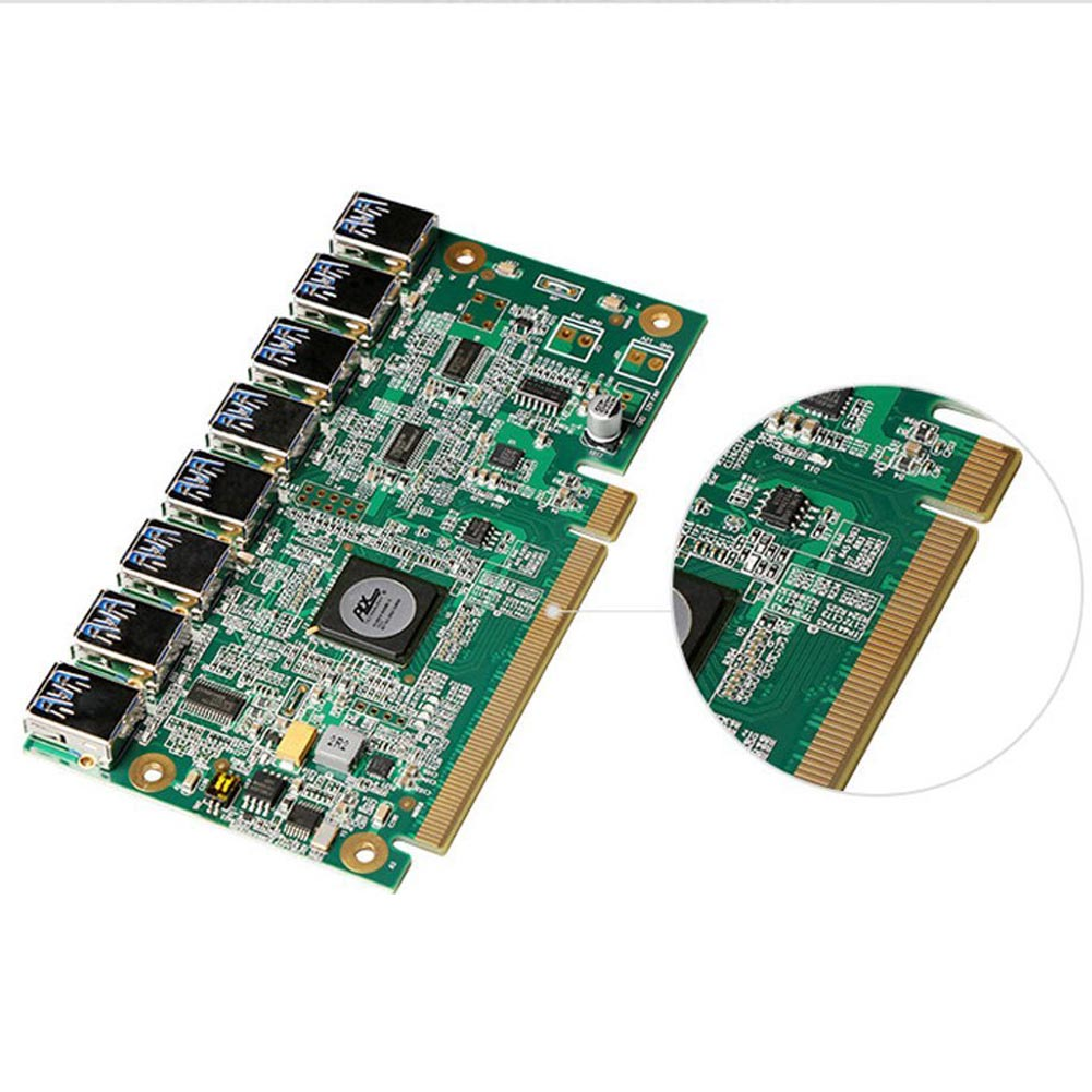 1 À 8 PCIe Mineur Machine Carte Graphique Rallonge PCI-E 16X tour 8 Port USB3.0 PCIE Cartes D'extension Riser Carte BTC LTC ETH