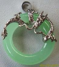 fancy green circle jewerly dragon pendant
