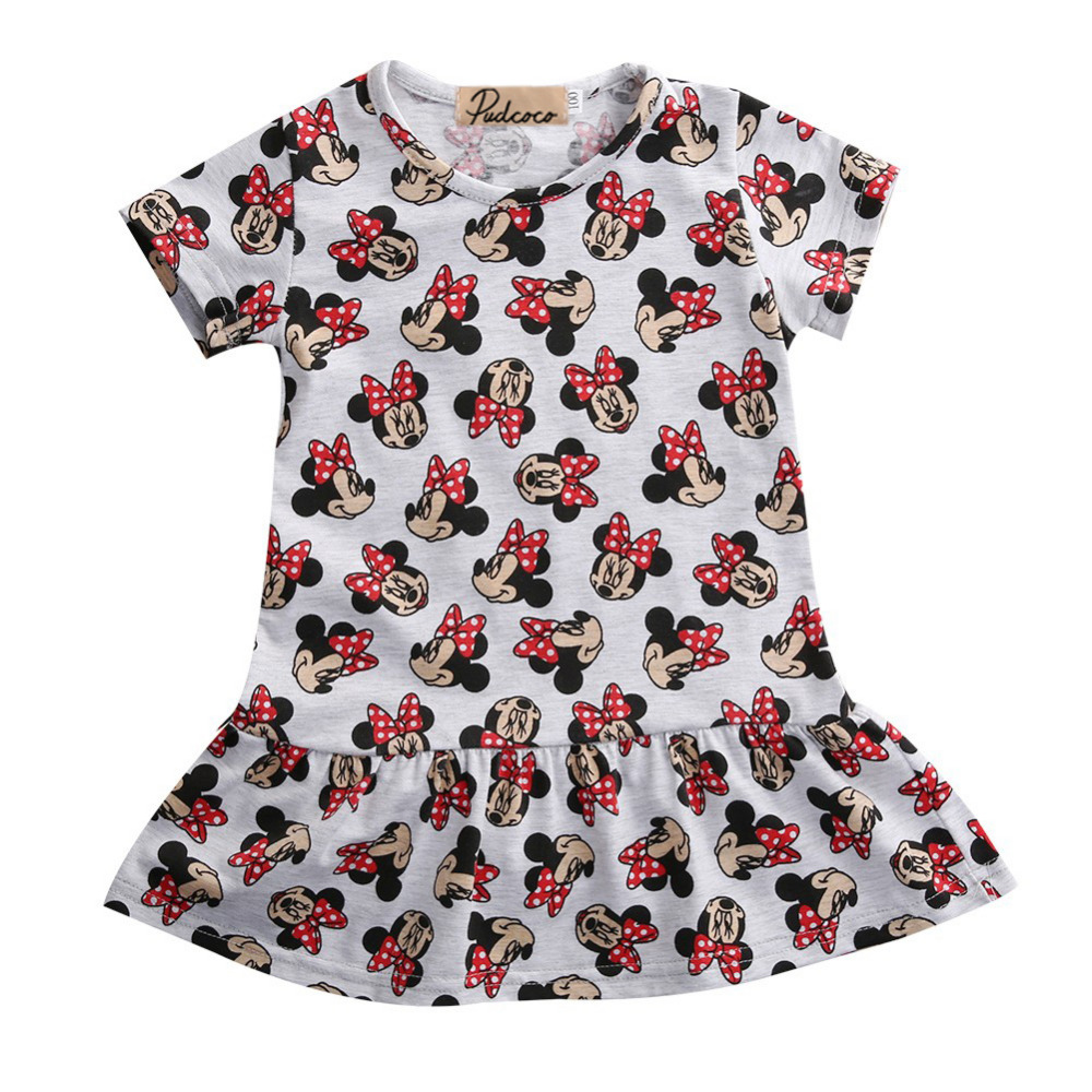 b4be549bbb897 Pudcoco Babi Gril Dress Cartoon Minnie Mouse Princess Dress Sleeve 3 ...