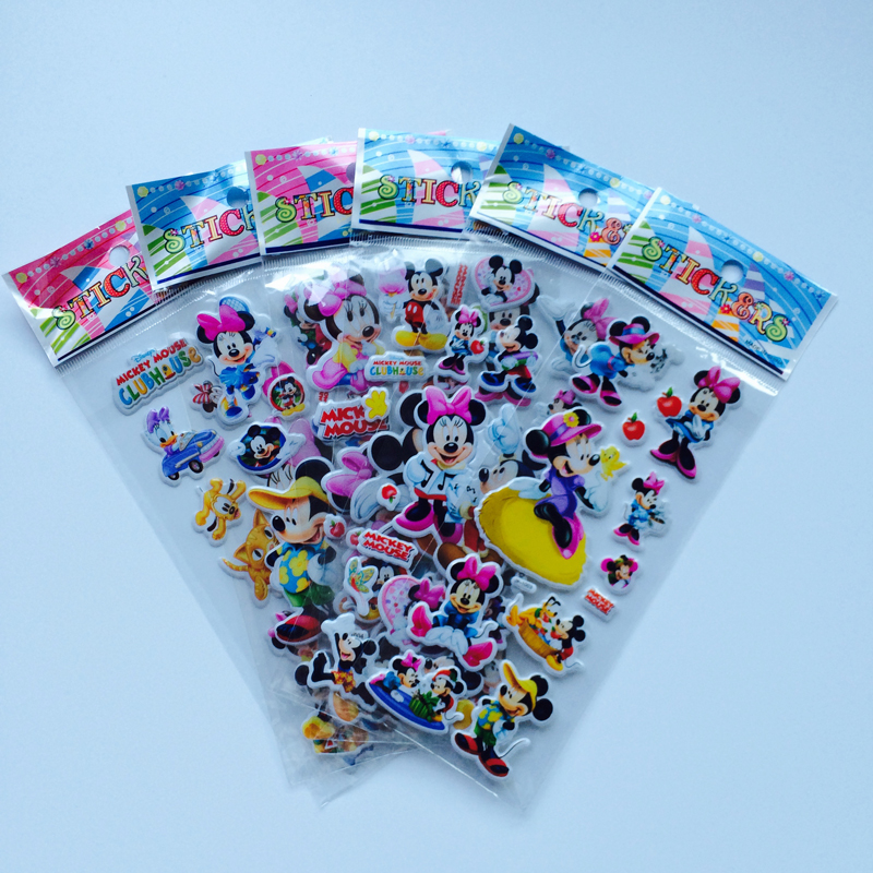 6Pcs/lot   mouse Stickers 3D cartoon PVC bubble stickers girls/boys birthday gift children toys6Pcs/lot   mouse Stickers 3D cartoon PVC bubble stickers girls/boys birthday gift children toys