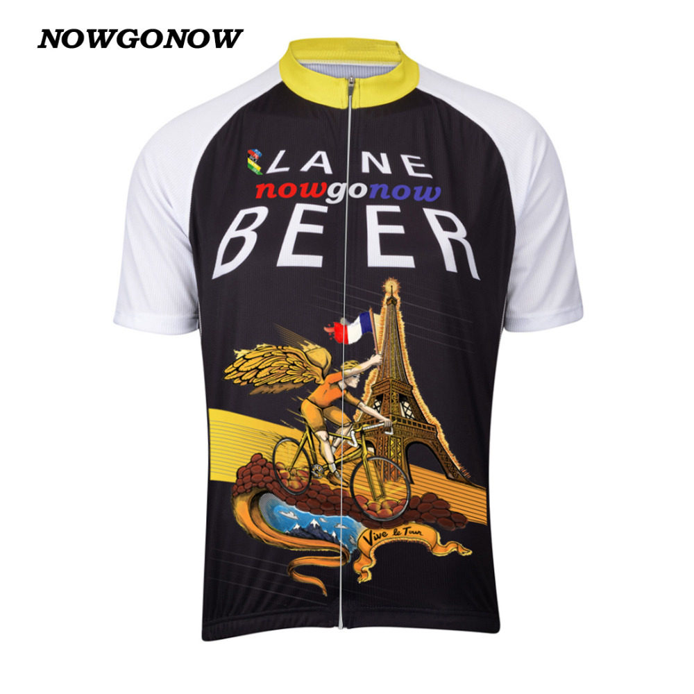 a48d316a9 2017 man cycling jersey clothing beer la tour black pro team Quick Dry bike  wear