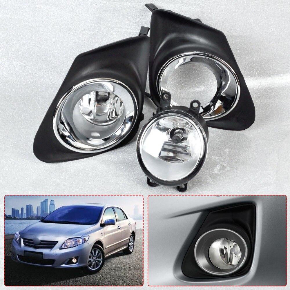 Citall 8122006070 812200d040 new black 4pcs front bumper fog light lamp grille cover for toyota corolla 2011 2012 2013