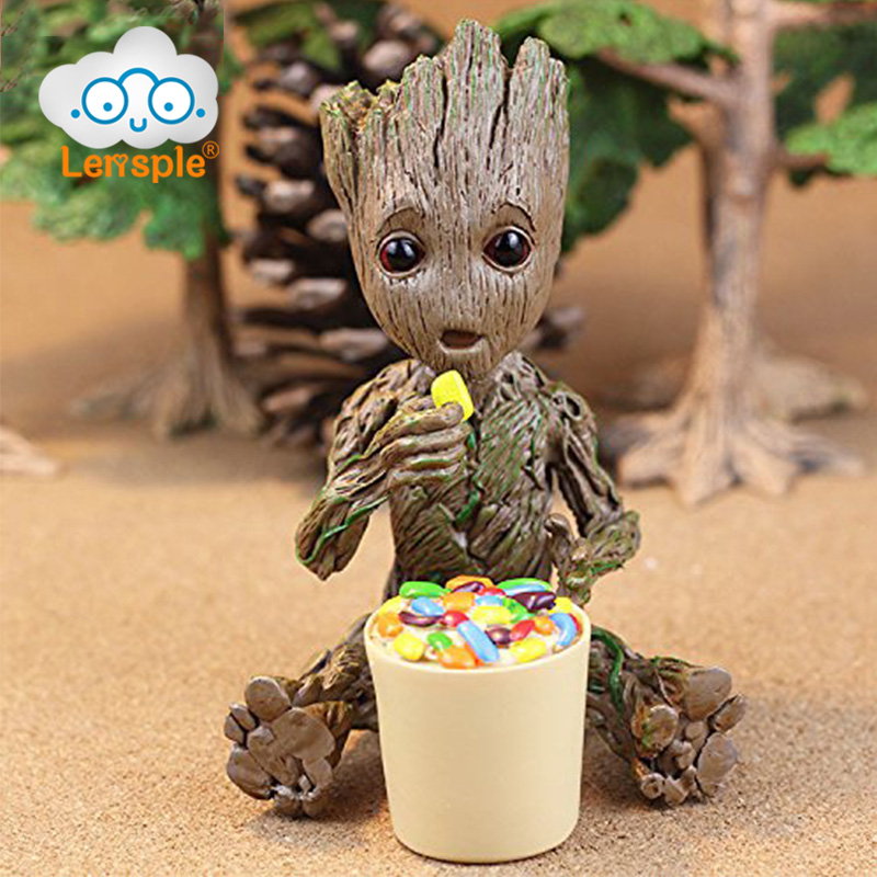 Lensple 17cm Tree Man Baby Action Figure Guardians of The Galaxy Model Toy Statue Ornaments Birthday Gifts For Kids фигурка planet of the apes action figure classic gorilla soldier 2 pack 18 см