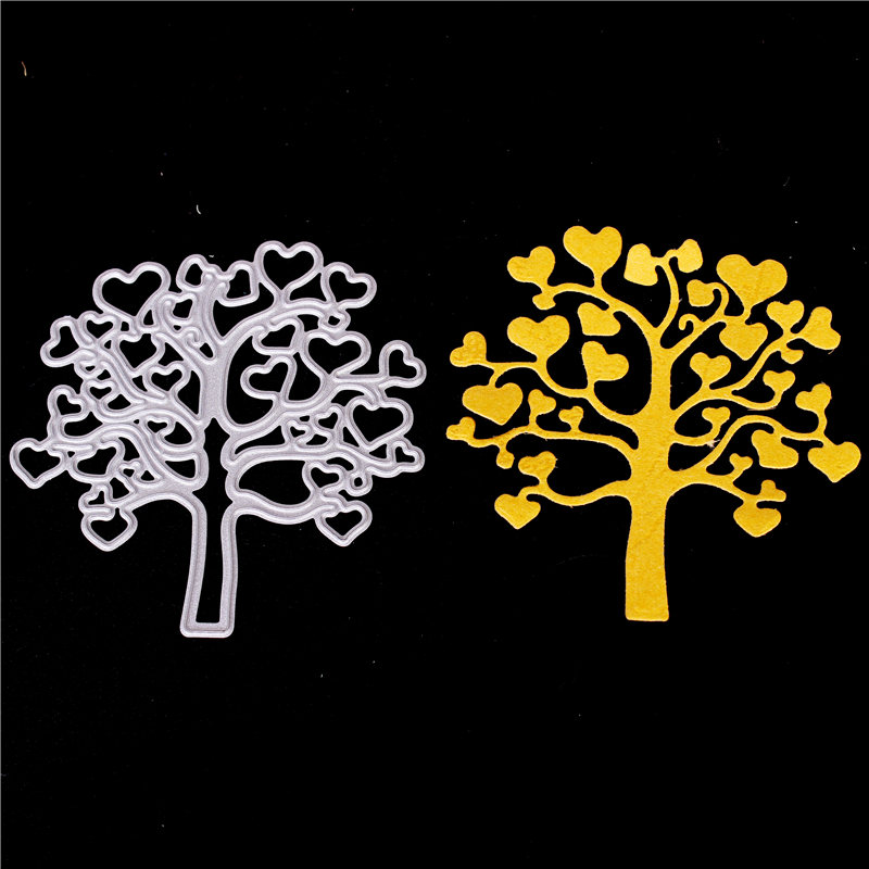 Metal Cutting Dies for Diy Scrapbooking Die Cut New 2018 Cuts for Paper Card Making Craft Embossing Photo Heart tree word