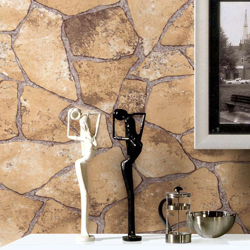 ФОТО Natural Classic Vintage Simulation Brick Wall Stone Rock Slate Effect 10M Wallpaper Roll Background Home Decor PVC Wall Paper