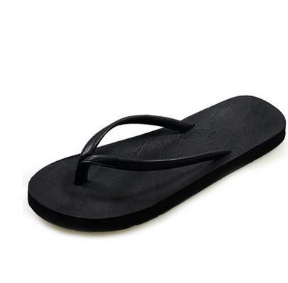 9cfc3772117be Summer casual male flip flops shoes comfortable soft leather slippers  sandals slippers design men and women lovers slippers-in Women s Sandals  from Shoes on ...