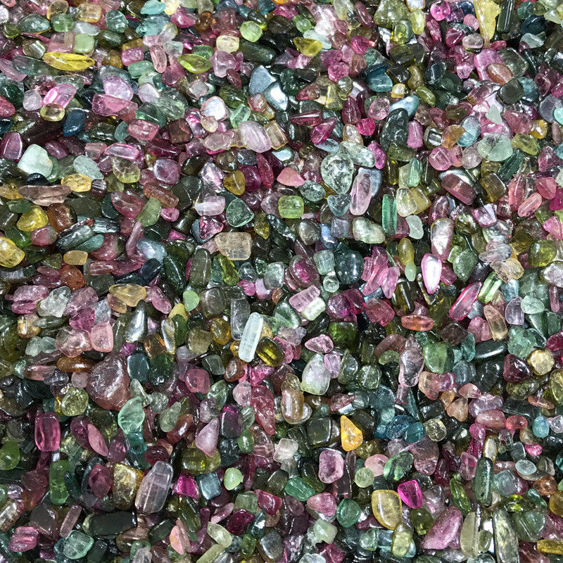 Drop Shipping 50g High Quality Natural Colourful Tourmaline Gravel Stone Mineral Specimen Stones and Crystals
