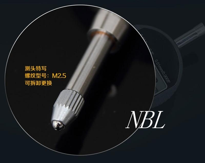 0,001 mm skaitmeninio rinkimo indikatoriaus tikslus mikrometras, 25,4 - Matavimo prietaisai - Nuotrauka 4