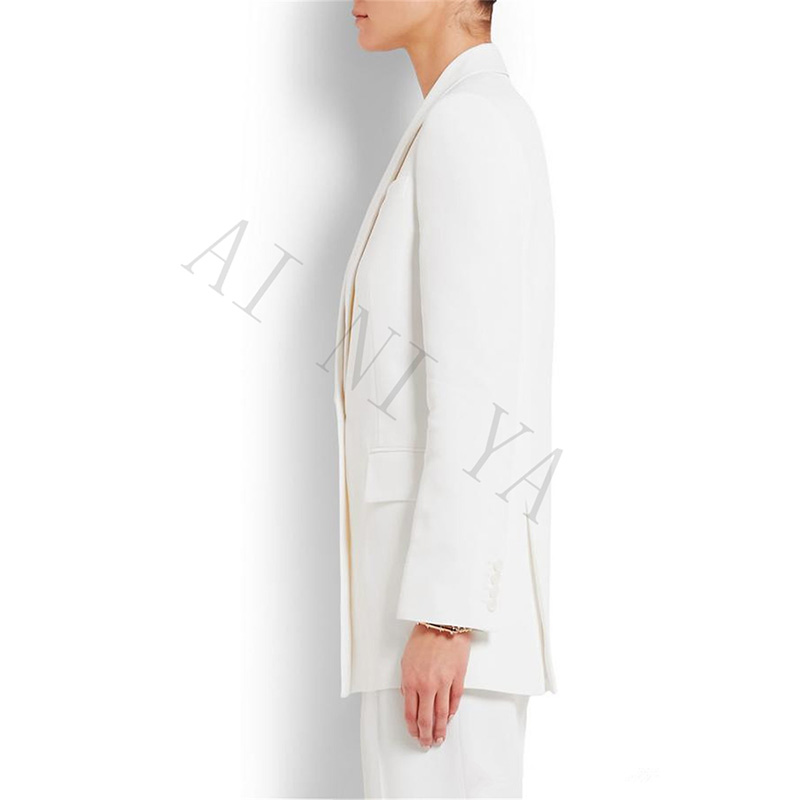 Jacket+Pants New Women Business Suits Blazer White Female Office Uniform Formal Work Wear Ladies Trouser Suit 2 Piece Set Custom