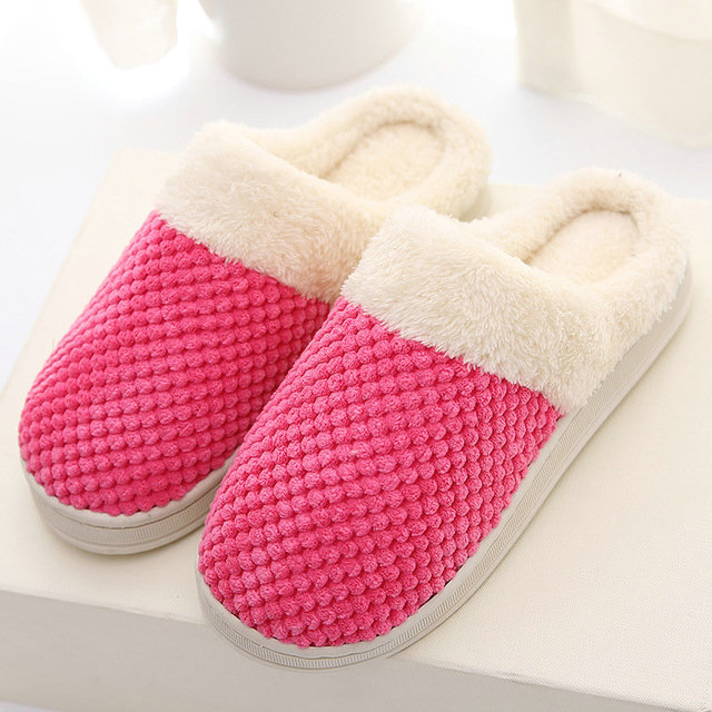 4d9072330111 ... Women s Comfort Coral Fleece Memory Foam Slippers Plush Lining Slip-on Clog  House Shoes for ...