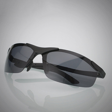 Aluminum magnesium alloy sunglasses sunglasses man half frame driving special sunglasses wholesale 6806